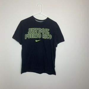 Nike Mens L Black Just Do It Puerto Rico Shirt